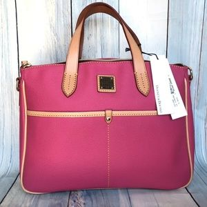 Dooney Small PINK Pebbled Leather Tote NEW
